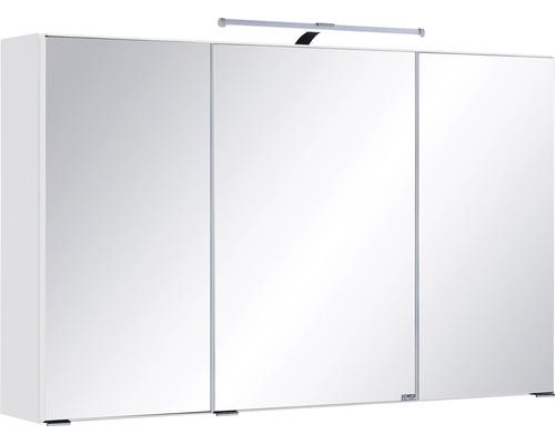 Armoire de toilette à trois portes 100x66 cm blanc-0