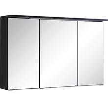 Armoire de toilette à trois portes 100x66 cm gris foncé-thumb-0