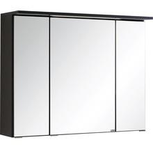 Armoire de toilette à trois portes 80x66 cm gris foncé-thumb-0