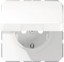 Mécanisme de prise avec clapet Jung CD 1520 BFKLWW blanc-thumb-0