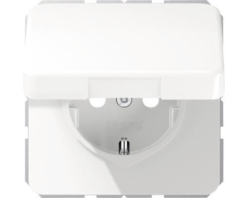 Mécanisme de prise avec clapet Jung CD 1520 BFKLWW blanc-0