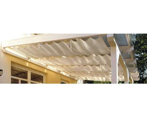 Voile d''ombrage SKAN HOLZ pour toiture de terrasse 541 x 300 cm, blanc