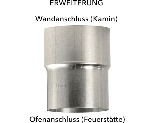 Augmentateur pour tuyau de poêle Ø 120-130 mm aluminié à chaud
