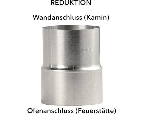 Réducteur pour tuyau de poêle Ø 120-110 mm aluminié à chaud