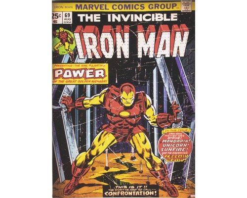 Tableau sur toile Marvel Iron Man 50x70 cm