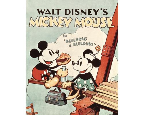 Tableau sur toile Mickey Building a Building 40x50 cm-0