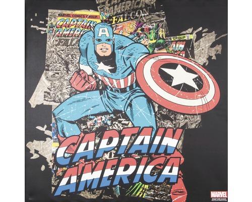 Image sur toile Marvel, Captain Amercia Black 70x70 cm-0