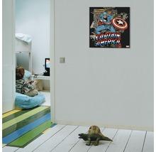 Image sur toile Marvel, Captain Amercia Black 70x70 cm-thumb-1