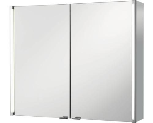 Spiegelschrank basano Salenta 80x67x16,5 cm grau 2türig IP 20
