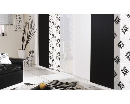 Schiebegardine Retro uni weiß 60x245 cm