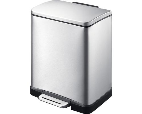 Poubelle à pédale E-Cube 12 litres acier inoxydable