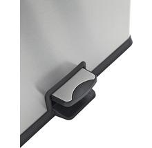 Poubelle à pédale 2x30 l acier inoxydable-thumb-2