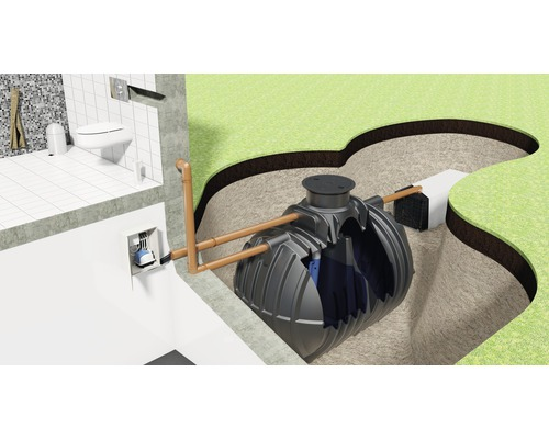 Petite station d''épuration premium eco 1.0 8 EW