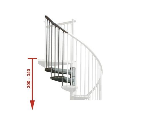 Extension pour escalier en colimaçon Pertura Zenobia Ø 120cm pour hauteur d''étage max de 340cm