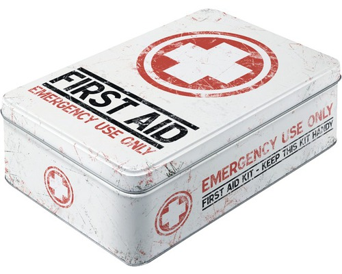 Boîte de rangement First Aid Kit plat