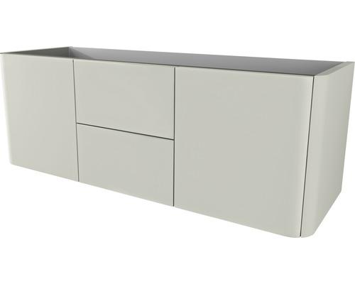 meuble sous vasque ceylan 140 cm gris nature - Meuble Sous Vasque 140 Cm