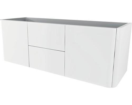 waschtischunterschrank baden haus ceylan breite 140 cm wei hochglanz fertig montiert hornbach. Black Bedroom Furniture Sets. Home Design Ideas