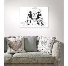 Tableau sur toile Mickey Minnie Sketch Kissing, 70x50 cm-thumb-1