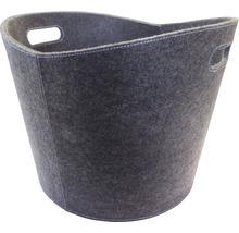 Panier à bois feutre gris-thumb-0