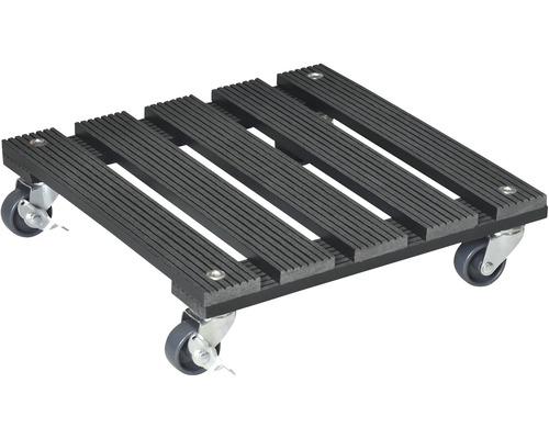 Support roulant pour plantes WPC 29x29 cm TK 80 kg