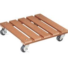 Chariot de plante bois composite 29x29 cm capacité de charge max. 80 kg marron-thumb-0
