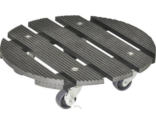 Chariot de plante bois composite Ø 29 cm capacité de charge max. 100 kg anthracite-0
