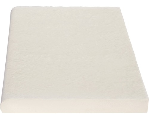 Bordure de piscine margelle Aquitaine élément plat blanc 49,5 x 31 x 3,2 cm