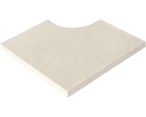 Bordure de piscine margelle Aquitaine élément plat angle intérieur pour arrondi de rayon 15 cm blanc 49,5 x 31 x 3,2 cm