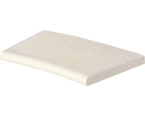 Bordure de piscine margelle Aquitaine élément plat avec courbe intérieure pour arrondi de rayon 100 cm blanc 50 x 31 x 3,2 cm