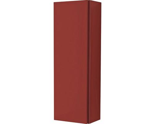 Armoire suspendue 20x60x14 cm 1 porte rouge à haute brillance-0