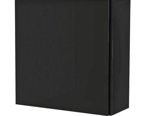 Armoire suspendue 40x40x17 cm 1 porte noir à haute brillance-0