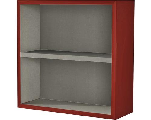 Étagère 40x40x15 cm rouge à haute brillance-0