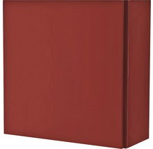 Armoire suspendue 40x40x17 cm 1 porte rouge à haute brillance-thumb-0