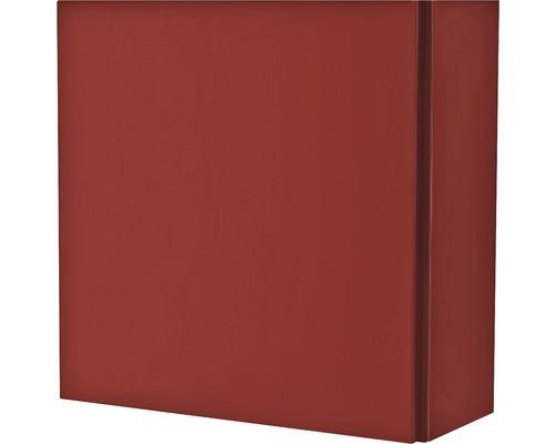 Armoire suspendue 40x40x17 cm 1 porte rouge à haute brillance-0