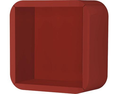 Étagère 32x32x15 rouge à haute brillance