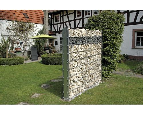 Kit de base pour clôture gabions GAH Alberts Step2 à visser 200x180 cm galvanisé à chaud-0