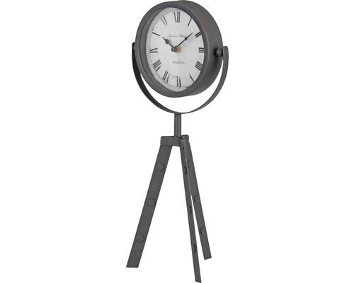 Horloge de table Metall Classic à 3 pieds, 19x42 cm