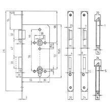 Serrure encastrée de porte intérieure Bever tirant gauche, PZ, 55/72/8, têtière ronde, vernie argent-thumb-3