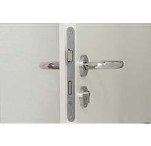 Serrure encastrée de porte intérieure Bever tirant gauche, PZ, 55/72/8, têtière ronde, vernie argent-thumb-1