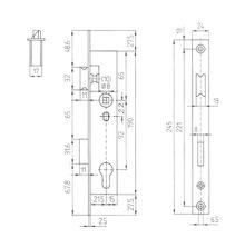 Serrure à mortaise de cadre tubulaire Bever gauche/droite, PZ 40/92/8-thumb-3