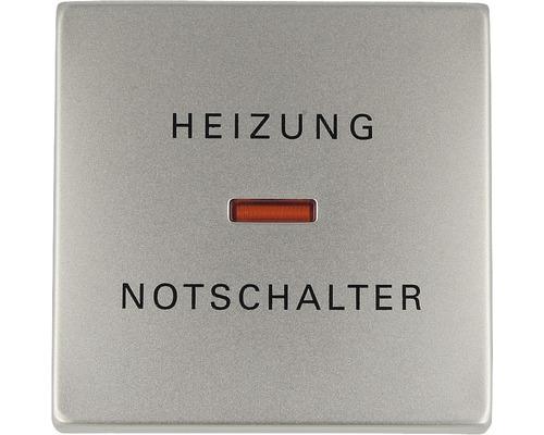 Bascule d''interrupteur avec calotte et impression chauffage Busch-Jaeger Pur inox 1789 H-866-0
