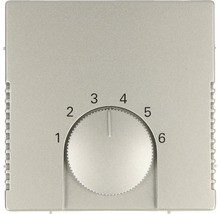 Cache pour thermostat d''ambiance Busch-Jaeger Pur inox 1794-866-thumb-0