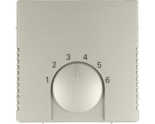 Cache pour thermostat d''ambiance Busch-Jaeger Pur inox 1794-866-0