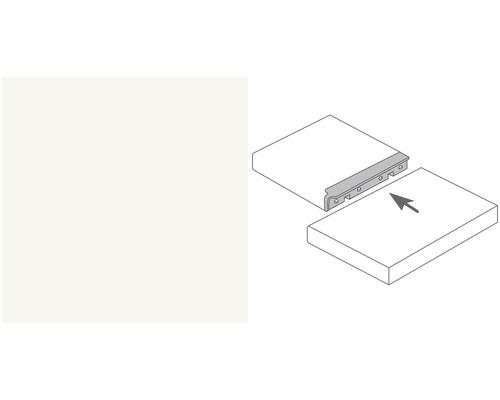 Arbeitsplatten Eckverbindungsleiste Alu weiß Profil 133 600x40 mm
