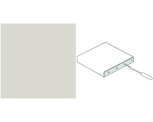Arbeitsplatten Endschutzleiste Alu silber Profil 133 600x40 mm