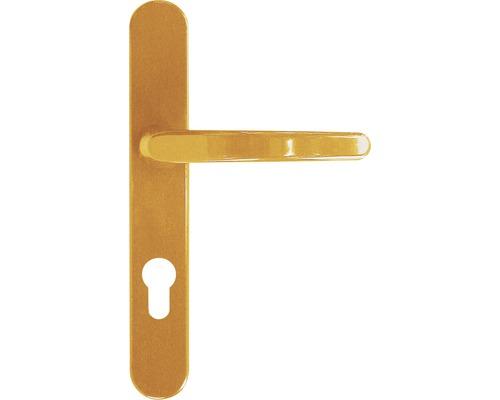 Kit de ferrure Compact poignée/poignée plastique marron