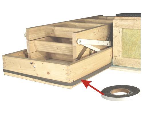 Kit de montage pour maison passive pour escalier escamotable en bois