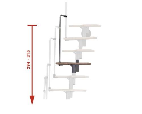 Extension pour escalier à volée Pertura Eos 1 marche pour hauteur d''étage max de 315cm