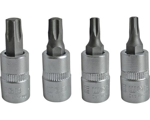 """1/4"""" Steckschlüssel-Einsatz WGB, Torx, 4-tlg"""