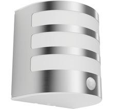 Applique LED pour mur extérieur avec détecteur de mouvement 1x3,5W acier inoxydable/blanc-thumb-1